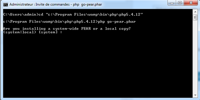console-dossier-php